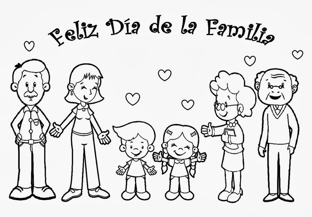 recursos para educación inicial: DÍA DE LA FAMILIA PARA COLOREAR