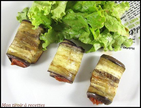 roulés aubergine