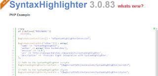 SyntaxHighlighter di blogger