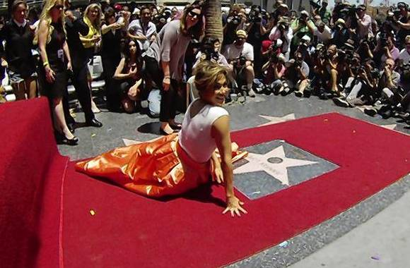 Jennifer Lopez revered with Hollywood star