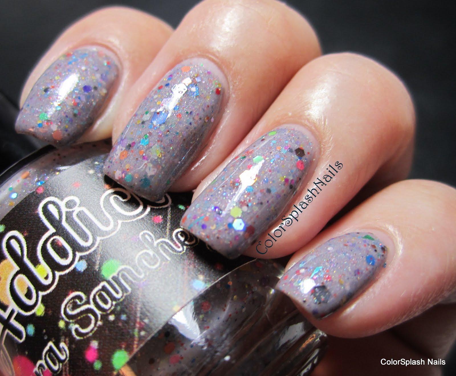 Colorsplash Nails: Polish Addict Neon Nights and Rainbow Concrete