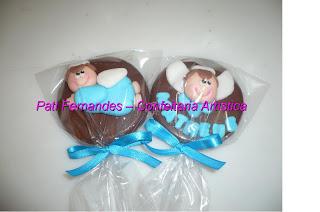 doce pirulito chocolate batizado