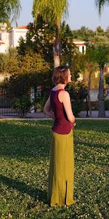 simplicity 2258 green linen skirt