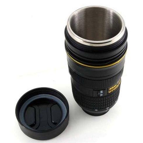 10 maneiras de reciclar lentes fotográficas copo termico