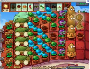 game plants vs zombie, my curve 9300