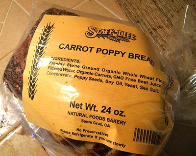 Staff of Life Carrot Poppy Bread