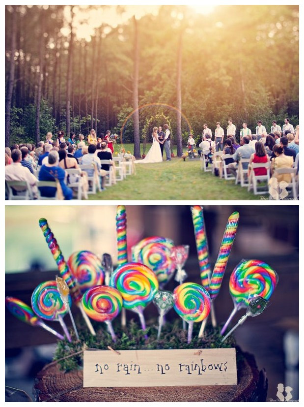 Rainbow Theme Wedding 01