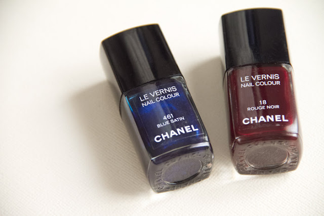 Chanel Blue Satin Rouge Noir