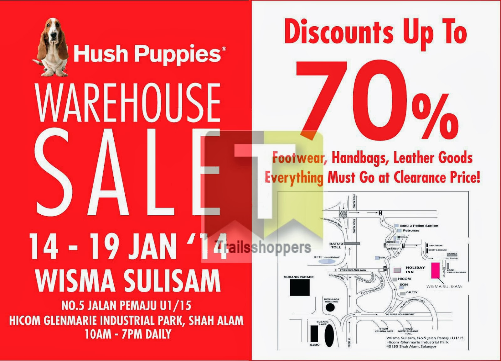 Hush Puppies Warehouse Sale 2014