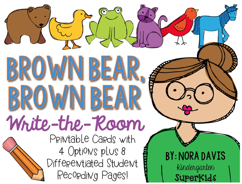 http://www.teacherspayteachers.com/Product/Brown-Bear-Brown-Bear-Write-the-Room-Perfect-for-Back-to-School-1361458