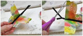 Reciclatex Cómo hacer mariposas arco iris