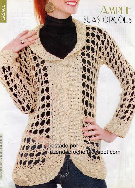 Abrigo a Crochet Con Patrón Grafico
