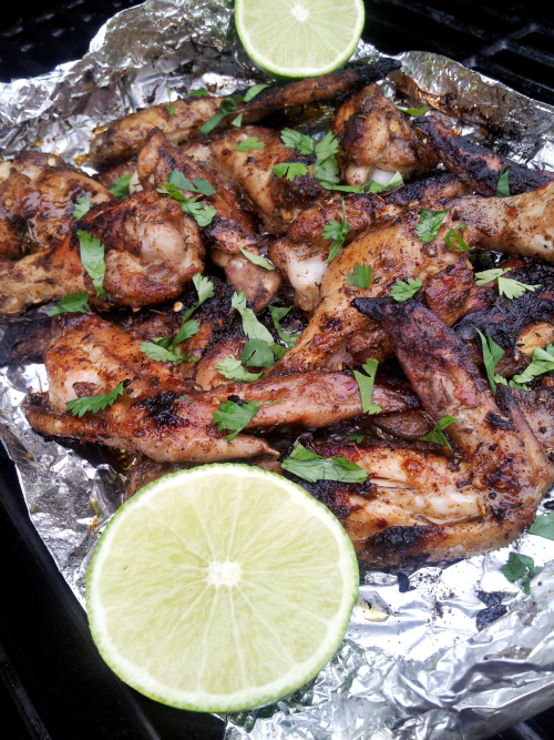 Steaknpotatoeskindagurl Jerk Chicken Wings Grilled In A Foil Packet