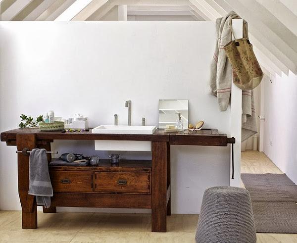 Baños Rusticos Reciclados:Lavabo con alma de carpintero Decoración / General Sarzena