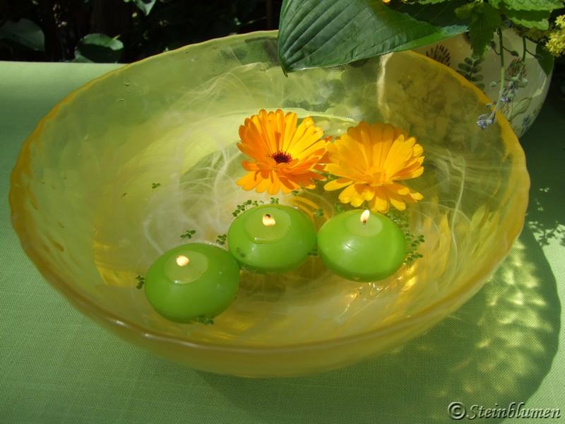Wasserschale Tischdeko