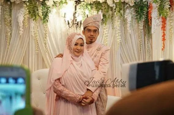 Gambar Perkahwinan Abby Abadi dan Jai Ezzany