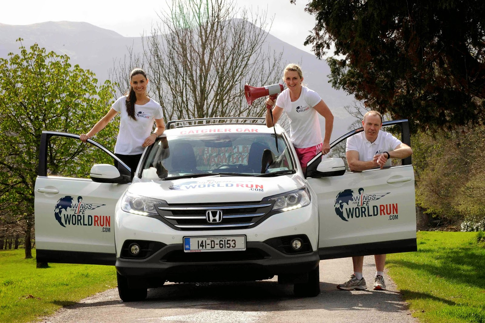 Honda are the official vehicle sponsor of the Wings for Life World Run