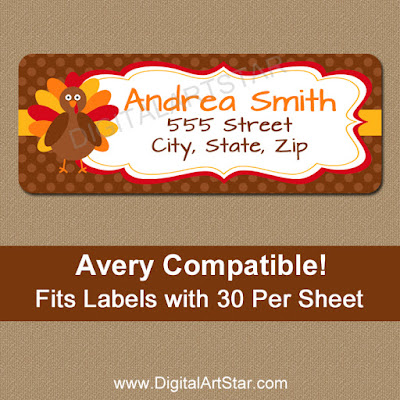 turkey thanksgiving return labels