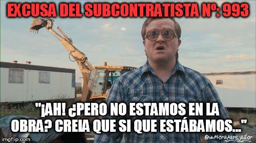 excusas de subcontratistas