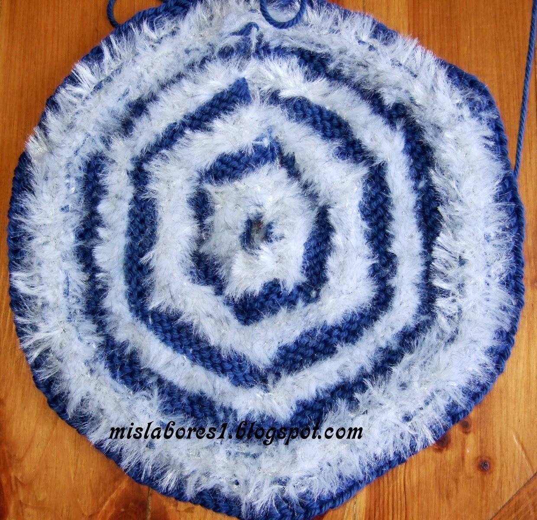 Mis labores bolso de lana con dos agujas - Labores de punto de lana ...