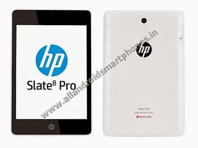 HP Slate8 Pro Non Calling Non GSM 8.0 Inch Android Tablet Front Back Images Photos Review