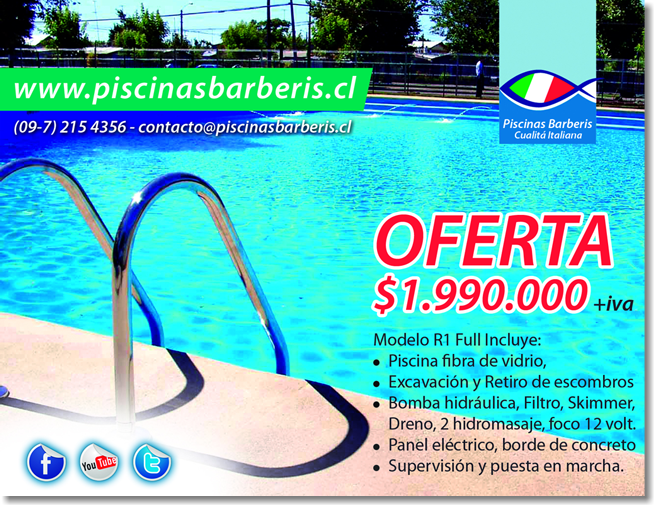 Piscinas barberis for Construccion de piscinas precios chile