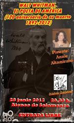 "Walt Whitman. ""El poeta de América"". 1892-2012"