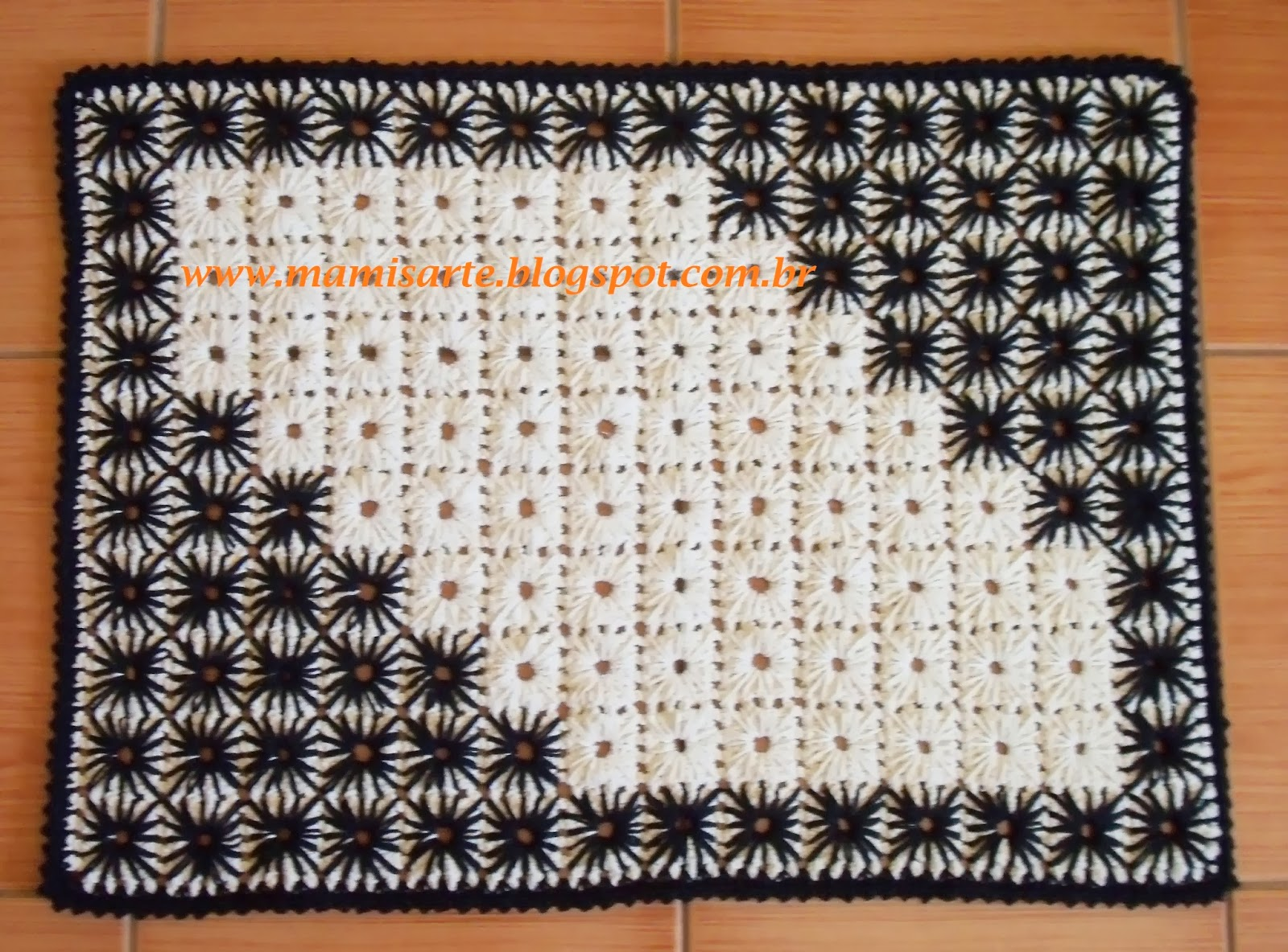 Tapete em Crochet Bordado- Dicas para Bordá-lo