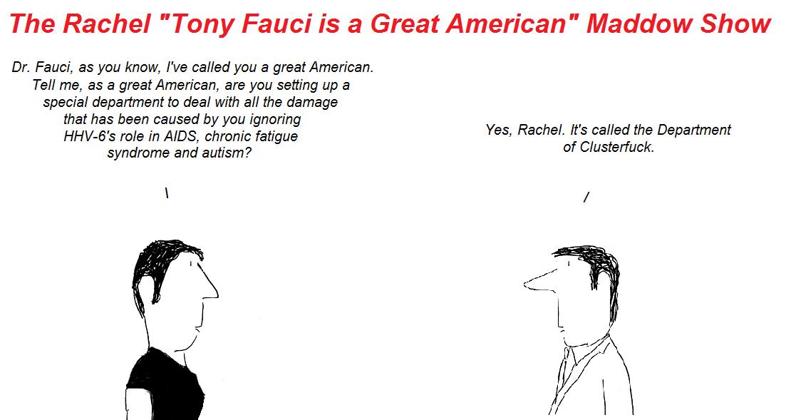 rachel maddow, tony fauci, cfs, aids, hhv-6, autism, chronic fatigue syndrome