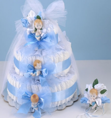 Diaper Cake Boy Large