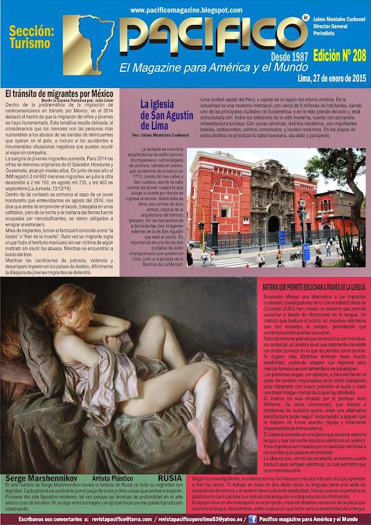 Revista Pacífico Nº 208 Turismo