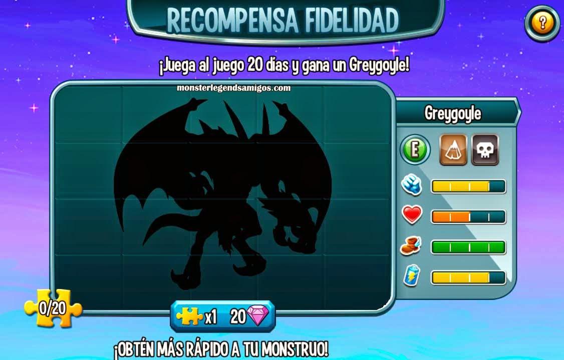 imagen oculta del tercer premio fidelidad de monster legends