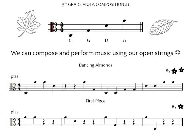Composition Packet--pizzicato open strings
