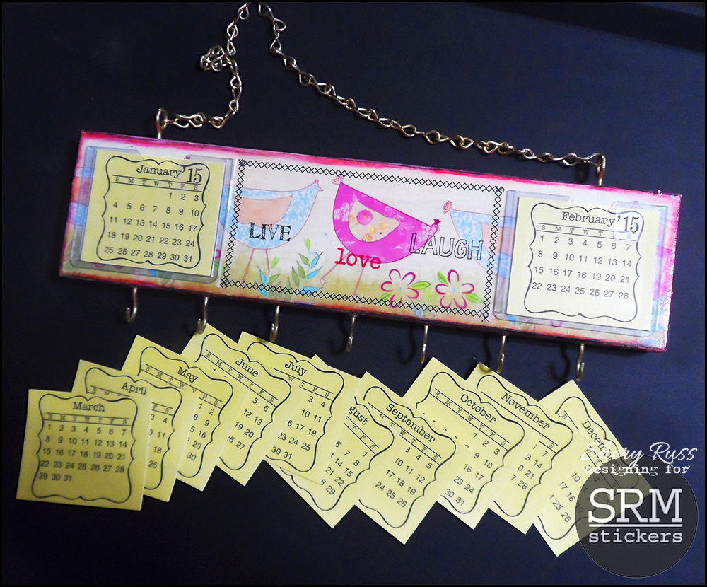 SRM Stickers Blog - Calendar Rack Decor by Shery - #calendar #mini #sticker #2015 #decor #altered