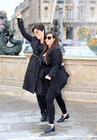 Kim Kardashian out in Paris with her mom