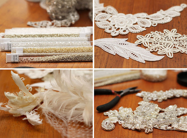 Feathers, Lace & Seed Beads