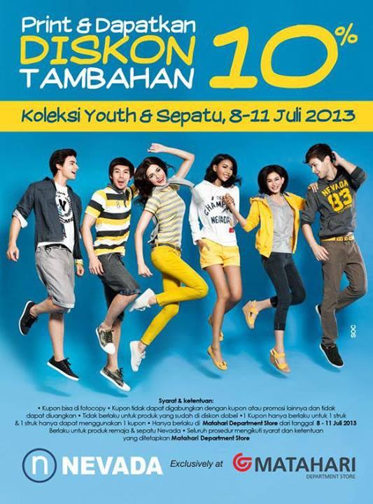 Promo Matahari Terbaru (Weekday Promo) Diskon Tambahan 10% Periode 8 – 11 Juli 2013