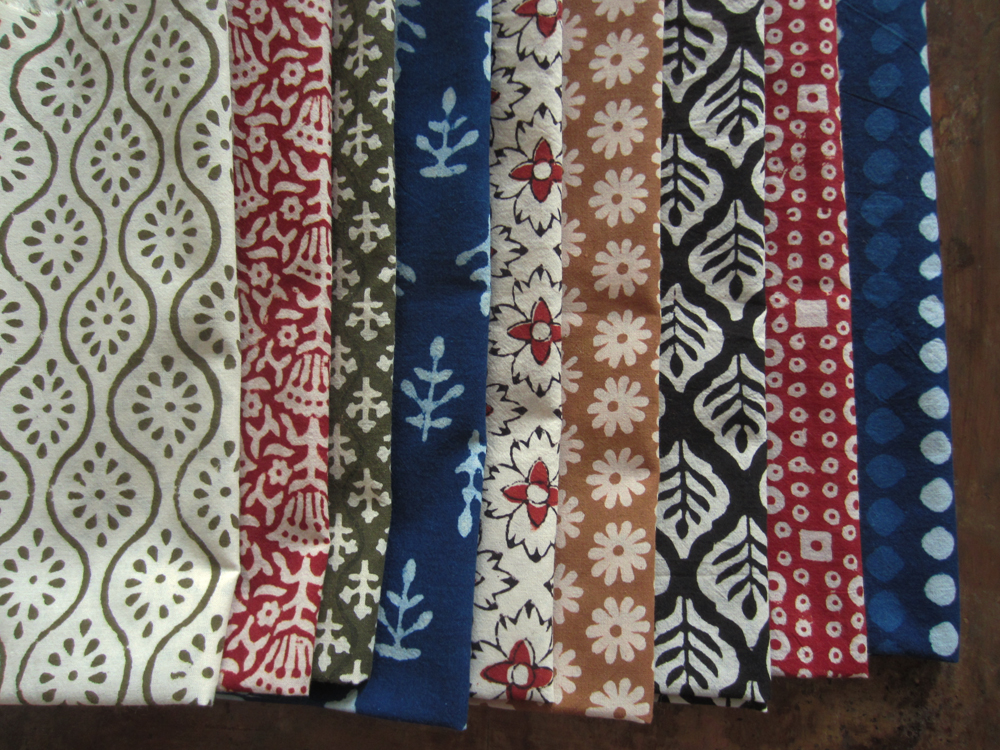 Yardwork hand block printed fabric from india for Fabric printing