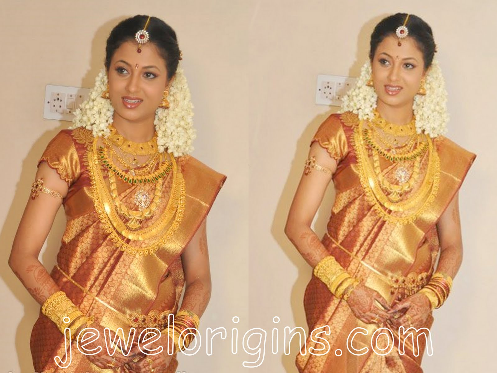 south indian bridal jewellery set title=