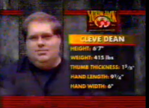 The hand of armwrestler legend Cleve Dean! Cleve+Dean+hand+size+measurements+stats