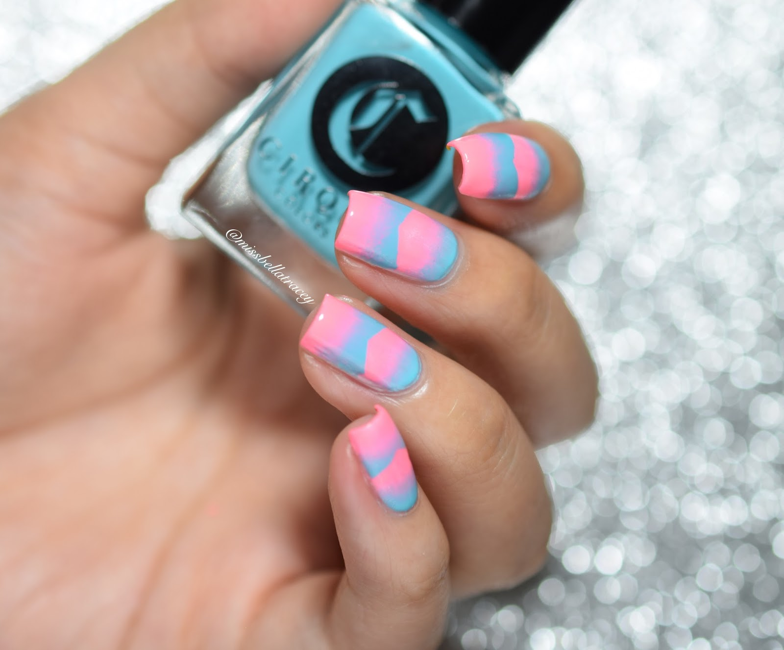 MissBellaTracey: WNAC - Neon Pink and Light Blue Scaled Gradient