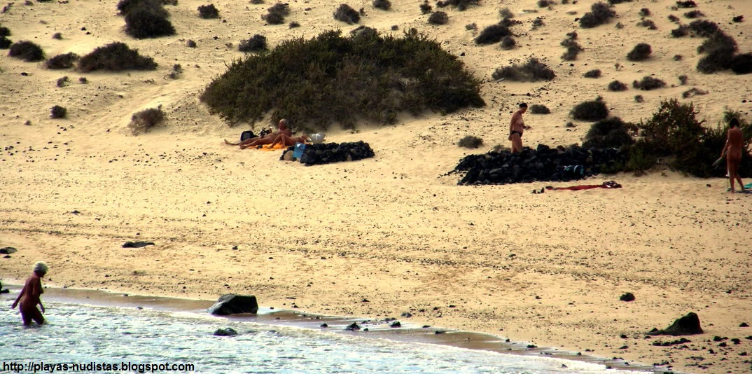 Nude beach La Francesa (La Graciosa, Canary Islands)