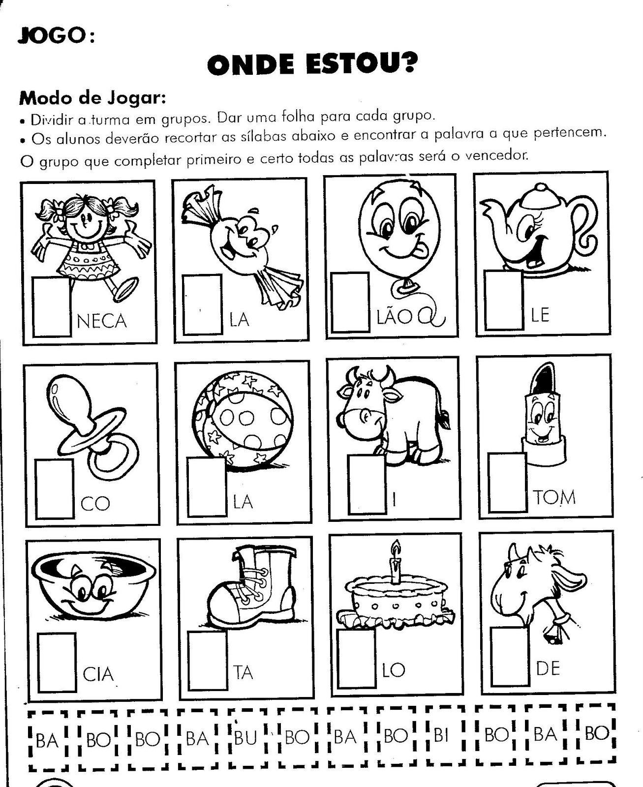 Alfabetiza    O   A Letra B  Atividades Para O 1   Ano  Cruzadinha