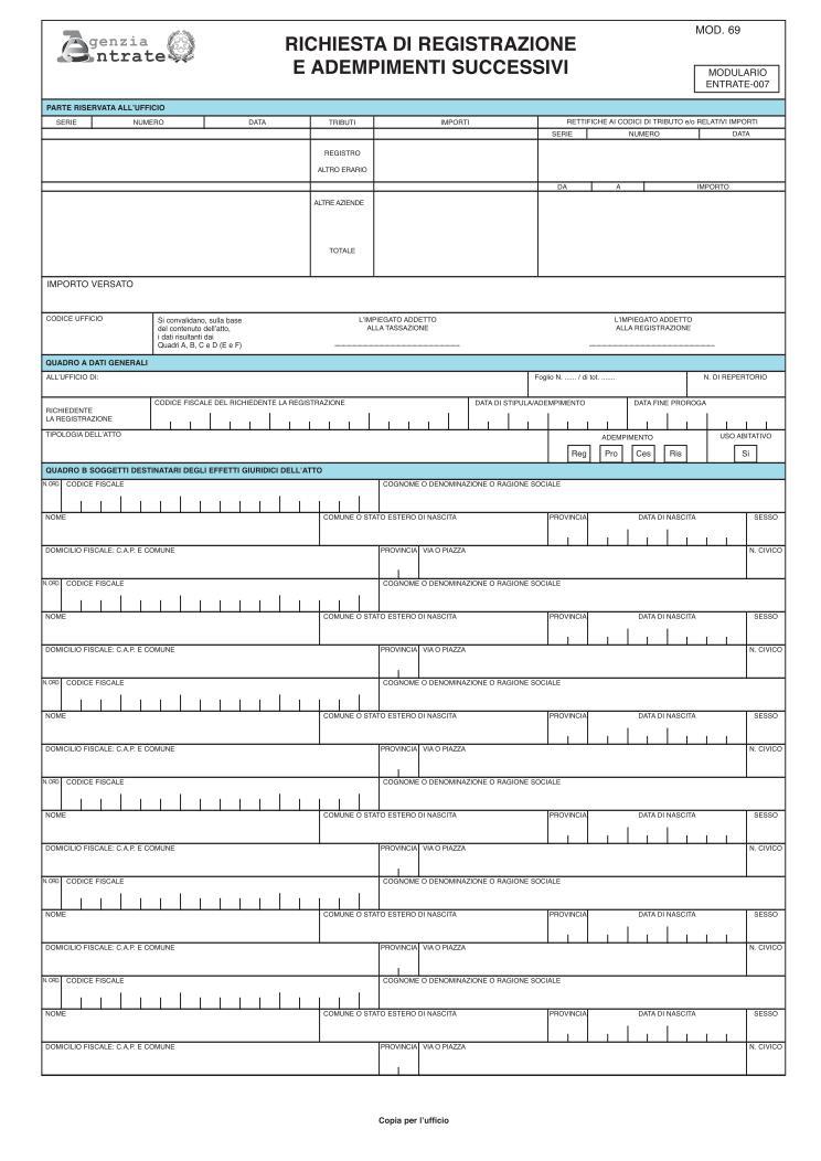 Infocasa cedolare secca semplificazioni in fase di for Contratto cedolare secca modello