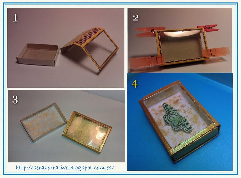 caja de cerillas conservar insectos