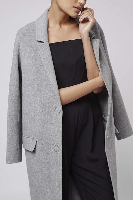 topshop grey maxi coat, grey maxi coat, boutique grey wool coat,
