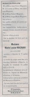 Décès Magnani Lucchini