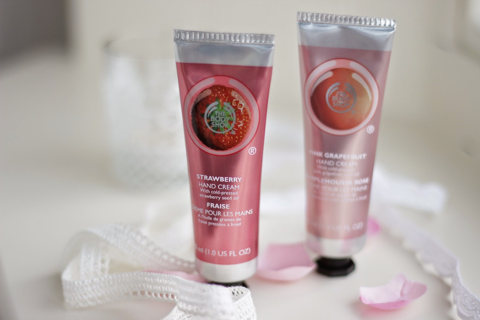 review the body shop handcreams