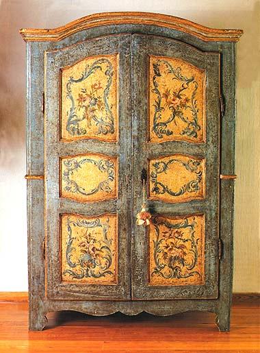 Viva el color la c moda encantada - Muebles antiguos pintados ...