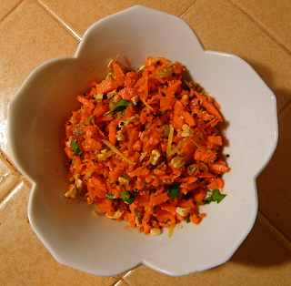 Bowl of Carrot Raisin Salad